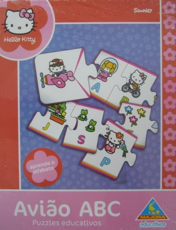 Avião Abc Puzzle Hello Kitty