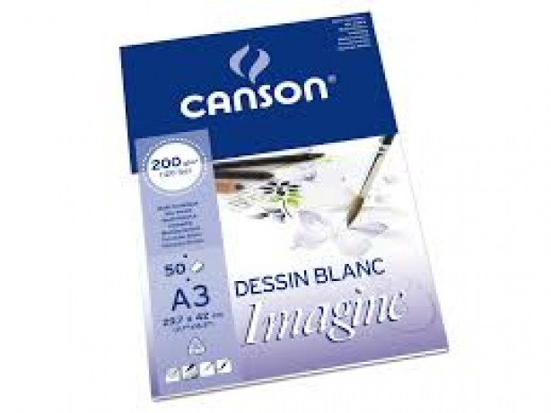 Bloco Mix Media Imagine A3 200 G/M2 50F Canson
