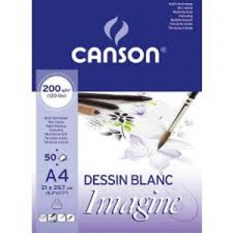 Bloco Mix Media Imagine A4 200 G/M2 50F Canson