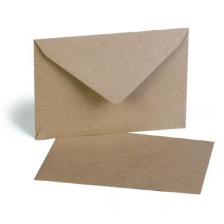Conj. 10 Envelopes Kraft 12Cm X 17.5Cm