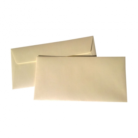 Envelope Creme Metal 110X220Mm 120G/M2