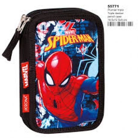Estojo Completo Triplo - Spiderman Radio