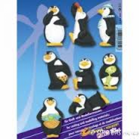 Moldes Pinguins Fimo