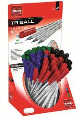 Roller-Pen Preto 1.0 Mm Triball Kum