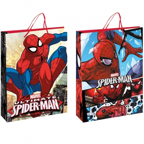 Saco Papel Spiderman 23X16X9