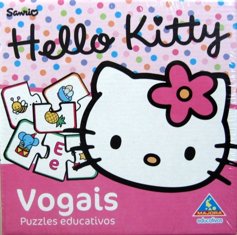 Vogais Puzzle Hello Kitty